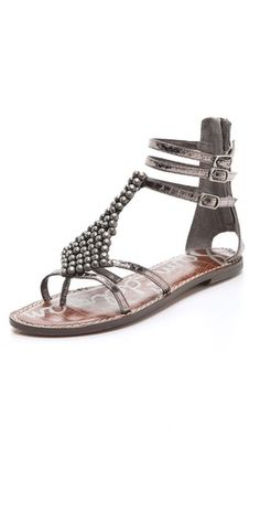 Sam Edelman Ginger Studded Gladiator in Pewter. I had these when they originally came out several years ago. Kinda want them again.
