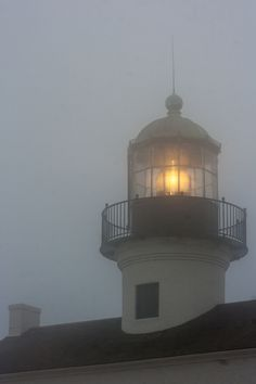 Photograph The Old Point Loma Lighthouse in the fog by Kevin Key on Deception Island, Winding Stair, Lower Lights, Lighthouse Keeper, Out To Sea, Oil Lamps, Seaside, Nautical, Old Things