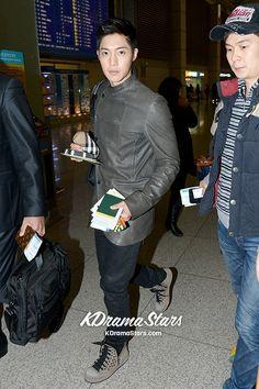 Kim Hyun Joong Leaving for Feel Korea' in Sao Paulo, Brazil . My First Crush, Big Crush, Asian Celebrities, Asian Actors, Brad Pitt, Leonard Dicaprio, Playful Kiss, Boys Over Flowers, Korean Bands