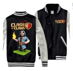 Clash of Clans plus size sweatshirts for men COC Wizard baseball jackets
