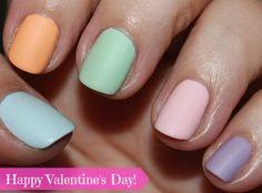valentine's day conversation heart inspired manicure