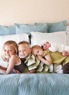 Leuk idee om de kids op de foto te zetten!