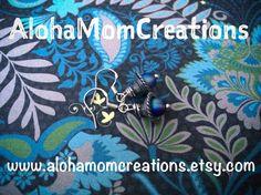 Silver Vibrant Deep Water Earrings by AlohaMomCreations on Etsy