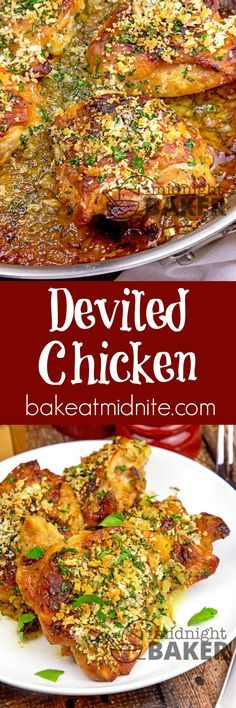 Deviled chicken is outstandingly delicious. Simple ingredients but awesome flavor.