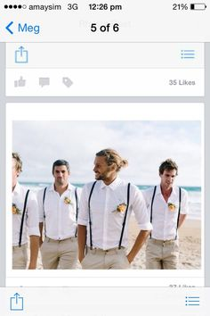 what should a groom wear for a beach wedding Groomsmen Outfits, Groom Outfit, Bridesmaids And Groomsmen, Groomsmen Beach Attire, Casual Groomsmen, Beach Wedding Groom Attire, Beach Groom, Wedding Beach, Beige Suits Wedding