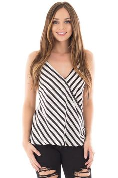 Lime Lush Boutique - Black and White Striped Surplice Front Sleeveless Top, $29.99 (https://www.limelush.com/black-and-white-striped-surplice-front-sleeveless-top/)#fashion#happy#photooftheday#followme#follow#cute#tagforlikes#beautiful#girl#like#selfie#picoftheday#summer#fun#smile#friends#like4like#pinterestfollowers