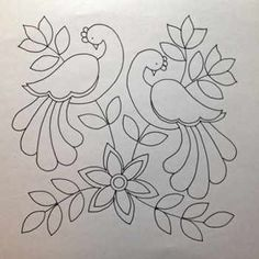 Mexican Embroidery, Hand Work Embroidery, Crewel Embroidery, Hand Embroidery Patterns, Applique Patterns, Applique Quilts, Beaded Embroidery, Simple Embroidery, Flower Embroidery