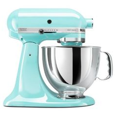 Amazon.com: KitchenAid KSM150PSIC Artisan Series 5-Quart Mixer, Ice