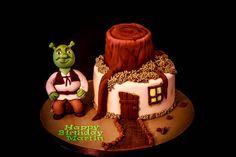 Shrek cake  Cake by Hettie's Cakes