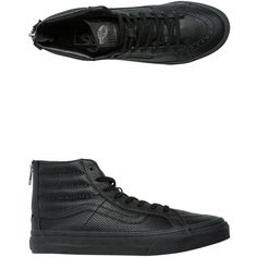 753528e175b Vans Perforated Leather Sk8-Hi Slim Zip Shoe ( 80) ❤ liked on Polyvore
