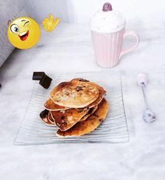 Pancake chocolat banane sans oeuf ni matière grasse.