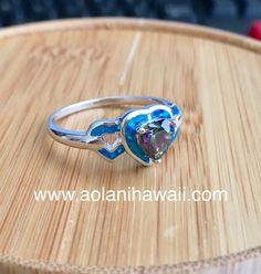 Tungsten Wedding Rings, Tungsten Carbide, Heart Ring, Mosaic, Sapphire, Silver Rings, Rainbow, Jewelry, Rain Bow