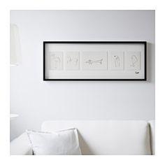 IKEA - OLUNDA, Tableau, Motif crée par Pablo Picasso.Les motifs en relief offrent plus de profondeur au tableau.