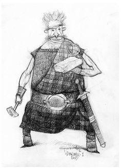Carter Goodrich - Brave Character Design