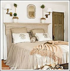 Mantel for a headboard
