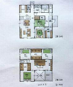 『40坪の間取り』 ・ 中庭に面して畳スペースとリビングがある間取り。 ・ #間取り#間取り集 #間取り図 #間取り力 #間取り相談 #間取り図大好き #間取り考え中 #間取り図好き #間取りフェチ - atelierorb