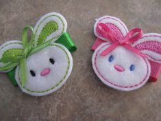 Bunny Felt Clips       make this a punch art bunny on candy for party favors for Easter