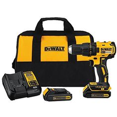 Dewalt MAX Lithium-Ion Brushless Compact in. Cordless Drill Driver Kit Ah). MAX Cordless Lithium-Ion Compact Brushless Drill Driver - MAX Ah Compact Lithium-ion Batteries - Dewalt Drill, Dewalt Tools, Compact, Cordless Drill Reviews, V Max, Thing 1, Sub Brands, Sombre, Bmw