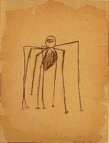 Louise Bourgeois --                                                                                   ink and charcoal on tan paper                 Solomon R. Guggenheim Museum    Louise Bourgeois: Drawings, University Art Museum/Pacific Film Archive, UC Berkeley