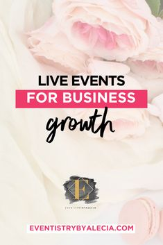 Live events for business growth are an ideal way to have a high-touch experience with your dream clients and loyal customers. Event Marketing, Marketing Plan, Content Marketing, Internet Marketing, Social Media Marketing, Marketing Strategies, Business Marketing, Digital Marketing, Business Events