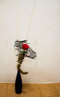 Oriol Bargalló: Arte floral - Composición con rosa