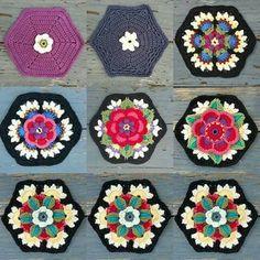 Crochet Squares Granny Design Crochet Frida's Flowers Blanket , free pattern Crochet Motif Patterns, Granny Square Crochet Pattern, Crochet Blocks, Crochet Afghans, Crochet Art, Crochet Squares, Crochet Crafts, Crochet Projects, Free Crochet