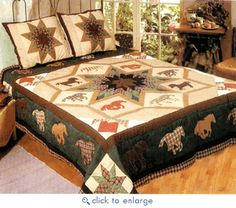 Luxury Bedding Sets On Sale Western Quilts, Western Bedding, Cowboy Quilt, Horse Quilt, Fabric Pictures, Quilt Pictures, Quilt Bedding, Comforter, Bedding Sets