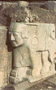Hittite, Sphinx, Karatepe (Halet Çambel) (Erdinç Bakla archive)