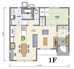 間取り【南玄関 5LDK 40坪】 | いえものがたり株式会社|ジャストオーダー <宇都宮市/注文住宅> Japan Design, Japanese House, House Layouts, Interior And Exterior, Floor Plans, Flooring, How To Plan, Architecture, Arquitetura