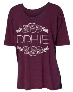 Delta Phi Epsilon Flower Tshirt by Adam Block Design | Custom Greek Apparel & Sorority Clothes | www.adamblockdesign.com