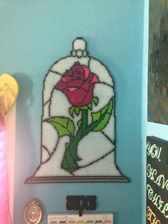 Enchanted Rose - Beauty and the Beast Perler Beads by Angel-Bear