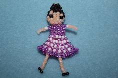 Seed bead pretty doll by MiNnIeLiLo, via Flickr
