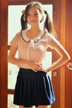 Asian Cute, Cute Asian Girls, Cute Girls, Emo Girls, Beautiful Japanese Girl, Beautiful Asian Girls, Beautiful Women, School Girl Outfit, Girl Outfits