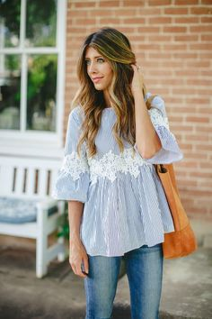 The Perfect Blouse | spring style | spring fashion | fashion for spring | style for spring | warm weather style | how to to style a lace top || The Girl in the Yellow Dress