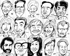 How to do caricatures drawings