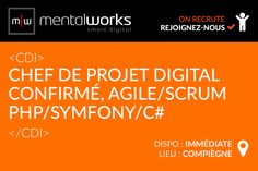 #Mentalworks #recrute un profil de chef de projet digital confirmé, passionné par le développement de projets web/métiers/mobile avec une première expérience en agence et à l'aise avec les méthodes agiles/scrum. Le poste est à pourvoir immédiatement, situé au siège social de l'agence à Compiègne au sein d'une équipe talentueuse, dynamique et passionnée. Si vous êtes intéressé, rendez-vous sur le formulaire RH : www.mentalworks.fr/rh