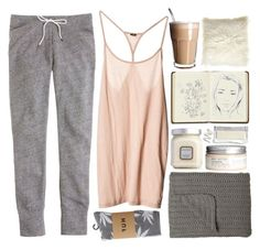 """""""Softly"""" by vv0lf ❤ liked on Polyvore featuring J.Crew, Laura Mercier, H&M, Harrods, Maison de Vacances and HUF"""