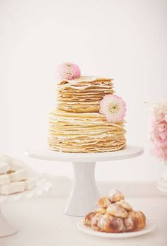 Pancake wedding cake!!! Perfect for breakfast that day!!!