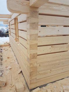 Roubenka Klasik | Roubenky Zeman Wooden Carports, Diy Log Cabin, Log Wall, Building A Cabin, Wooden Architecture, Wood Joints, Tiny House Cabin, Backyard Garden Design, Wooden House