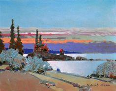 Assiniboia Gallery Robert  Genn (1936-2014) Late Light in the Broken Group