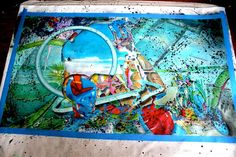 EXCLUSIVITY ART TRAFFIK : the last artwork of Stiouf Allright. The unframed canvas arrived from Miami where this french and so talented artist live. 196x112cm unframed // mix technic. Just beautiful. For sale