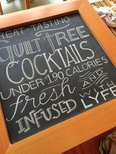 LYFE Kitchen Cocktails Chalkboard  Summer 2015, Evanston