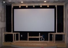 Designing a basement home theatre Home Theater Room Design, Home Cinema Room, Home Theater Rooms, Basement House, Basement Ideas, Home Remodeling, Family Room, Media Rooms, Media Wall
