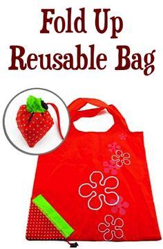 Fold Up Reusable Bag: $1.00 + FREE Shipping!