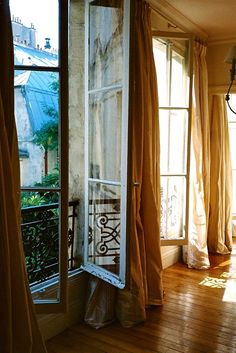 bright light and long windows-