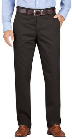Dickies Men's Regular-Fit Wrinkle-Resistant Khaki Dress Pants