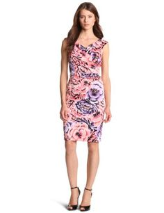 Jax Womens Floral Printed Satin Dress Black 8 * Click image for more details. (This is an affiliate link and I receive a commission for the sales)