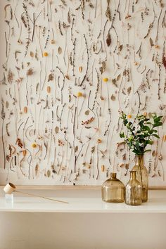 A very cool Toronto apartment - wall of dried wild flowers - genius DIY idea for spring!