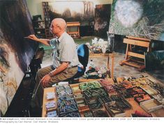 William Robinson in his studio, Brisbane, 2005.