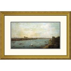 Global Gallery 'The City of Westminster From Lambeth' by Antonio Joli Framed Painting Print Size: 2
